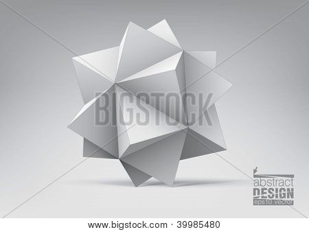 Abstract geometric shape from pyramids for graphic design, you can change colors