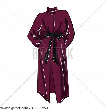 Blueberry Jersey Velvet Dress. Bright Festive Image. Fashion. The Basic Wardrobe Of A Minimalist. Be