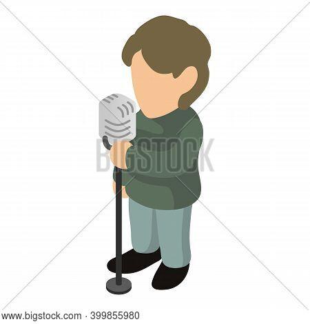 Singer Man Icon. Isometric Illustration Of Singer Man Vector Icon For Web