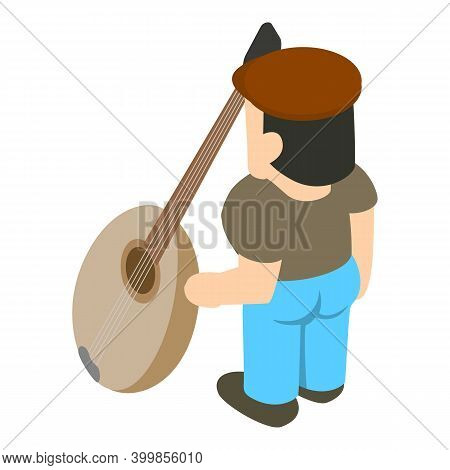 Musician Icon. Isometric Illustration Of Musician Vector Icon For Web