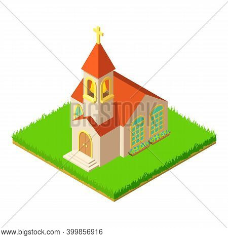 Chapel Icon. Isometric Illustration Of Chapel Vector Icon For Web
