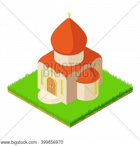 Orthodox Temple Icon. Isometric Illustration Of Orthodox Temple Vector Icon For Web