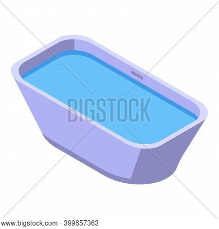 Water Bathtub Icon. Isometric Of Water Bathtub Vector Icon For Web Design Isolated On White Backgrou