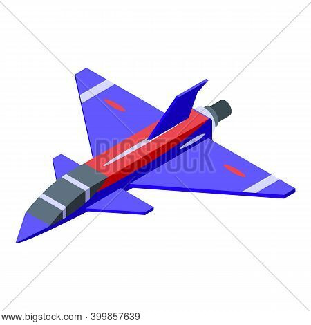 Aircraft Carrier Fighter Icon. Isometric Of Aircraft Carrier Fighter Vector Icon For Web Design Isol