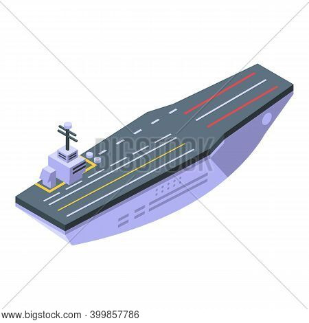 Aircraft Carrier Aviation Icon. Isometric Of Aircraft Carrier Aviation Vector Icon For Web Design Is