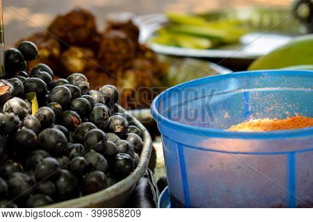 Picture Of Freshly Picked Home Grown Black Current Fruit Kept In A Bowl For Sale In Indian Village
