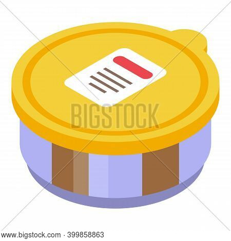 Chocolate Paste Pot Icon. Isometric Of Chocolate Paste Pot Vector Icon For Web Design Isolated On Wh