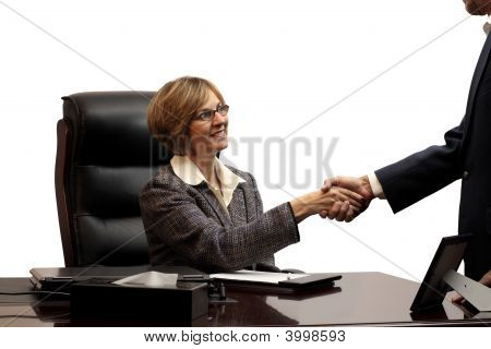 Woman Executive-Making The Deal