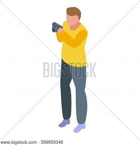 Reportage Photograph Icon. Isometric Of Reportage Photograph Vector Icon For Web Design Isolated On