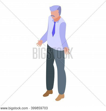 Senior Man Assignment Icon. Isometric Of Senior Man Assignment Vector Icon For Web Design Isolated O