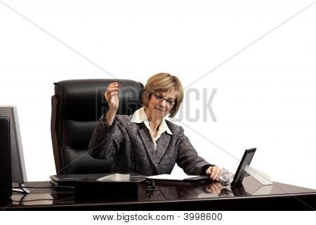 Woman Executive- Showing Frustration