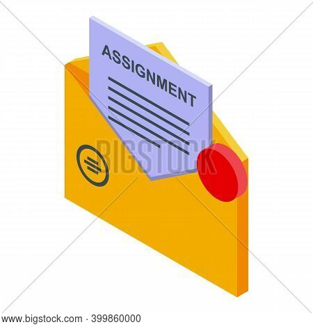 Mail Assignment Icon. Isometric Of Mail Assignment Vector Icon For Web Design Isolated On White Back