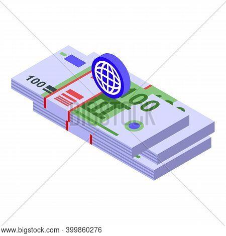 Monetization Cash Icon. Isometric Of Monetization Cash Vector Icon For Web Design Isolated On White