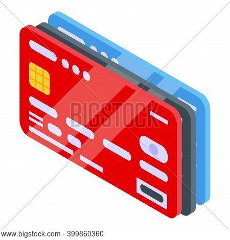 Monetization Credit Card Icon. Isometric Of Monetization Credit Card Vector Icon For Web Design Isol
