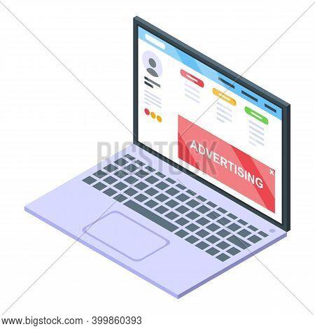 Monetization Advertising Icon. Isometric Of Monetization Advertising Vector Icon For Web Design Isol