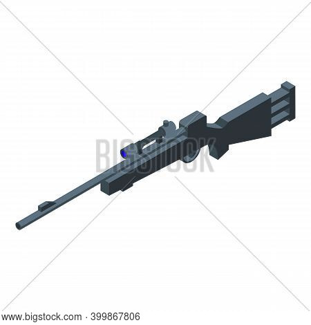 Assault Rifle Icon. Isometric Of Assault Rifle Vector Icon For Web Design Isolated On White Backgrou