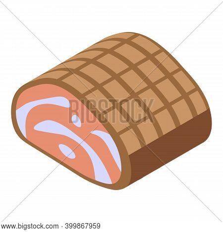Bacon Meat Icon. Isometric Of Bacon Meat Vector Icon For Web Design Isolated On White Background