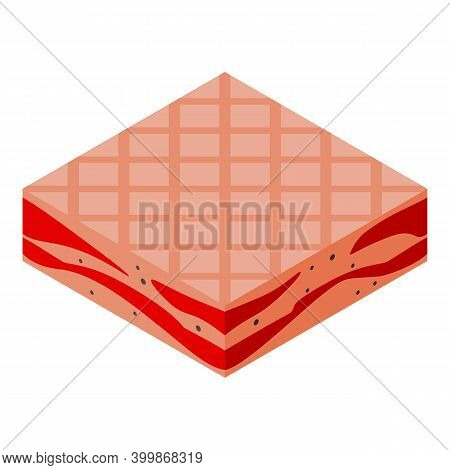 Pork Bacon Icon. Isometric Of Pork Bacon Vector Icon For Web Design Isolated On White Background