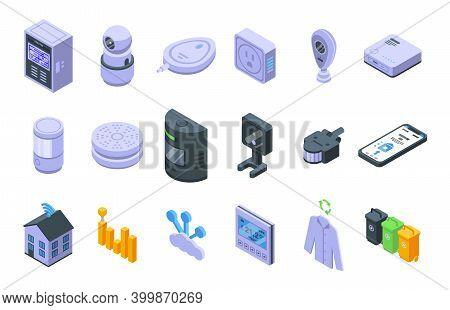 Smart Consumption Icons Set. Isometric Set Of Smart Consumption Vector Icons For Web Design Isolated