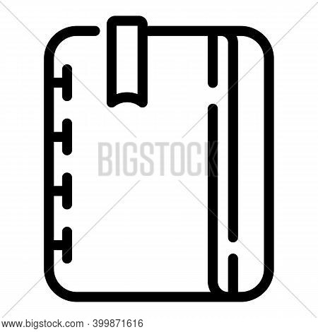 Textile Bookmark Icon. Outline Textile Bookmark Vector Icon For Web Design Isolated On White Backgro