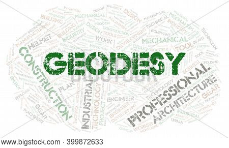 Geodesy Typography Word Cloud Create With Text Only