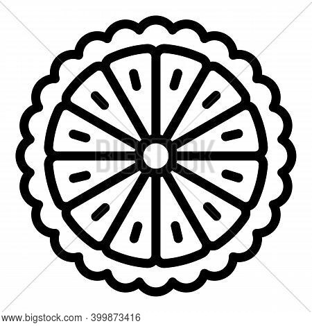 Cutted Bergamot Icon. Outline Cutted Bergamot Vector Icon For Web Design Isolated On White Backgroun