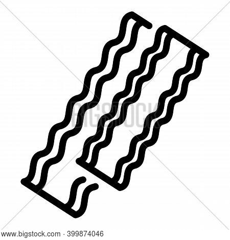 Bacon Raw Icon. Outline Bacon Raw Vector Icon For Web Design Isolated On White Background