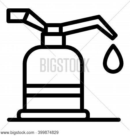 Canola Oil Icon. Outline Canola Oil Vector Icon For Web Design Isolated On White Background