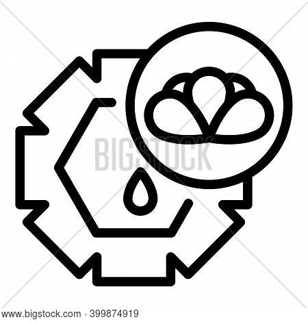 Essential Canola Oil Icon. Outline Essential Canola Oil Vector Icon For Web Design Isolated On White