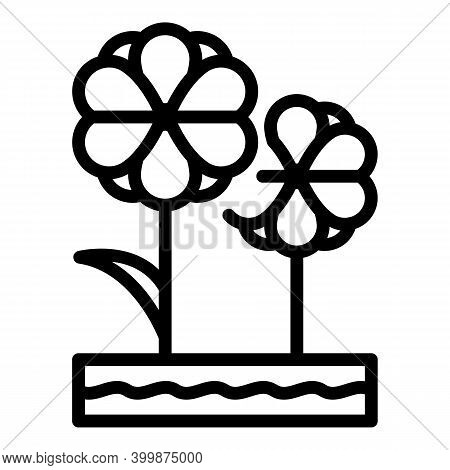 Canola Plant Icon. Outline Canola Plant Vector Icon For Web Design Isolated On White Background