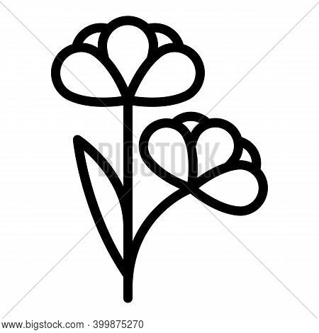 Bio Canola Flower Icon. Outline Bio Canola Flower Vector Icon For Web Design Isolated On White Backg