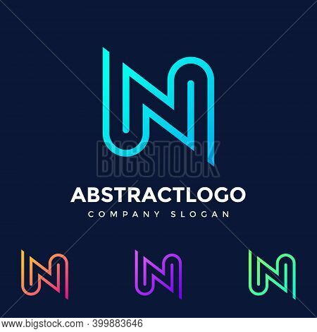 Creative Letter N Logo Colorful Design Vector Template - Unique Symbol N Text Icon - Abstract N Font