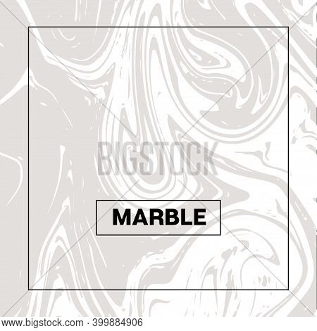 Gray Marble Texture Vector Square Liquid Ink Background. Fluid Paint Suminagashi Modern Pattern For