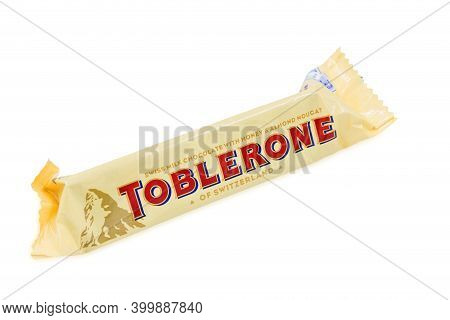 Pula, Croatia - December 10, 2020: Toblerone - Swiss Milk Chocolate With Honey And Almond Nougat, Ow