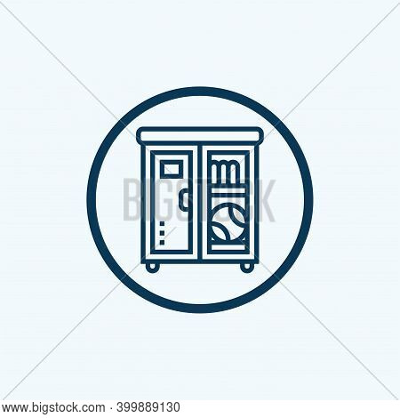 Lockers Icon Isolated On White Background From Education Collection. Lockers Icon Trendy And Modern