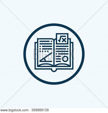 Mathematics Book Icon. Outline Mathematics Book Vector Icon For Web Design Isolated On White Backgro