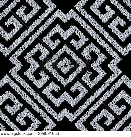 Textured Grunge Seamless Pattern. Tribal Ethnic Style Vector Sti