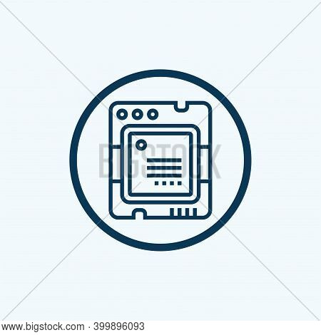 Processor Icon Isolated On White Background From Artificial Intelligence Collection. Processor Icon