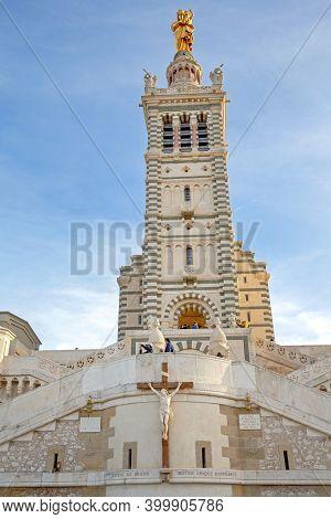 Marseille, France - January 31, 2016: Basilique Notre Dame De La Garde In Marseille, France.