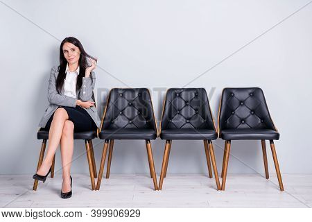 Portrait Of Her She Nice-looking Attractive Smart Clever Lady Realtor Agent Broker Economist Markete