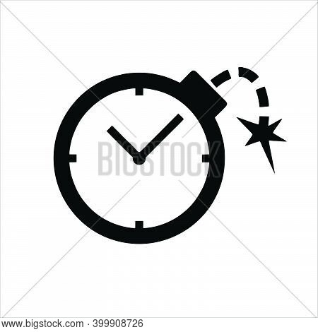 Clock Bomb Icon Isolated On White Background From Tax Collection. Trendy Bomb Icons And Modern Bomb