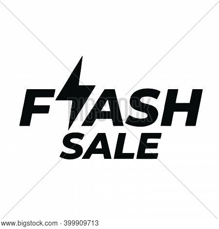 Flash Sale Icon Isolated On White Background From Cyber Monday Collection. Flash Sale Icon Trendy An