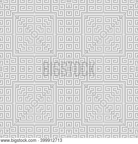 Geometric Greek Seamless Pattern. Modern Light Background. Repeat Tribal Ethnic Backdrop. Greek Orna