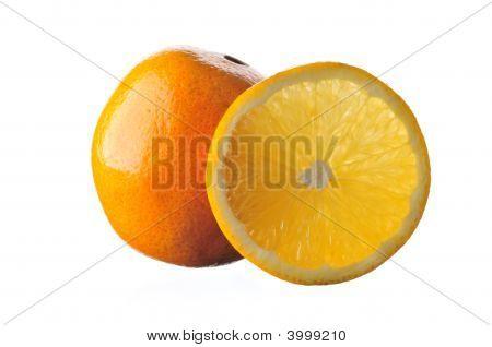 Isolated Florida Navel Orange