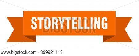 Storytelling Ribbon. Storytelling Paper Band Banner Sign