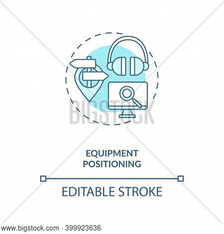 Equipment Positioning Concept Icon. Control Room Ergonomics Idea Thin Line Illustration. Encouraging