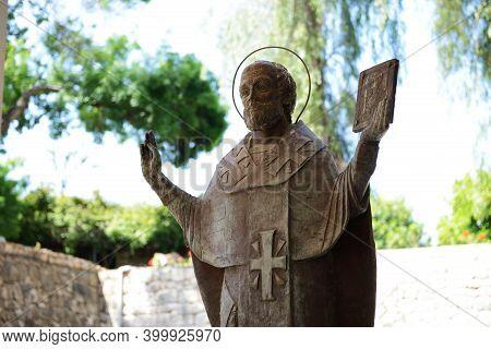 The Statue Of St. Nicholas At Myra, Turkey