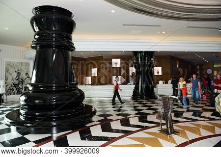 Antalya, Turkey - April 23: The Lobby Of Delfin Imperial Hotel On April 23, 2014 In Antalya, Turkey.