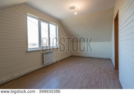 The Empty Room Of New House After Construction And Renovation. Concept Of Housewarming And New Dwell