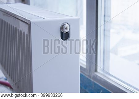 Heating Battery Near The Window. Cozy Warm Place In The House. Heating System.